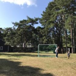 Fußball im Freizeitheim Gustavs Sommargård auf Gotland in Schweden