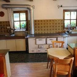 Die Küche im Höllwarthof in Österreich.