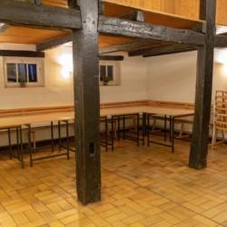 Ein Gruppenraum im deutschen Freizeitheim Burlage.