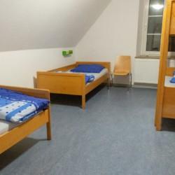Ein Zimmer im Gruppenhaus Burlage in Deutschland.