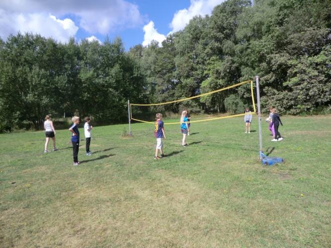 Volleyballfeld am CVJM Gruppenheim Marwede für Kinder und Jugendfreizeiten in Deutschland.
