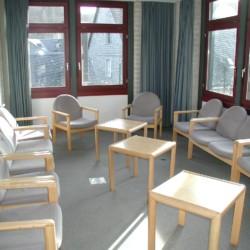 Ein Gruppenraum im Freizeithaus Jugendhaus Monschau in Deutschland.