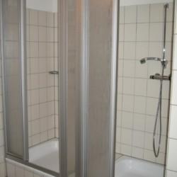 Duschkabinen im Freizeitheim Schotten in Deutschland.
