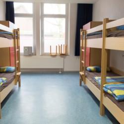 Schlafraum im Kinderfreizeitheim Tannenheim in Deutschland
