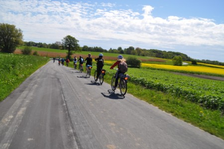 Radtouren im dänischen Freizeitheim Boll´s Lejrskole auf der Insel.