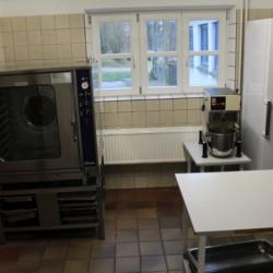 Küche für Selbstverpflegung im dänischen Freizeitheim Tydal.