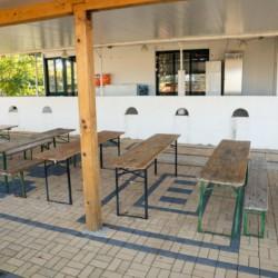 GRC1 Selbstversorger-Küche im griechischen Feriencamp für Jugendfreizeiten direkt am Meer