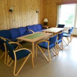 Seminarraum im norwegischen Gruppenhaus am See Solsetra.