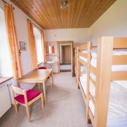 Vierbettzimmer im Gruppenhaus Ering in Bayern für Kinderfreizeiten