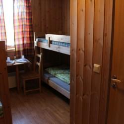 Schlafzimmer in dem norwegischen Freizetheim Kvinatun.