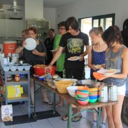 GRK1 Selbstversorger-Küche im griechischen Feriencamp für Jugendfreizeiten direkt am Mittelmeer