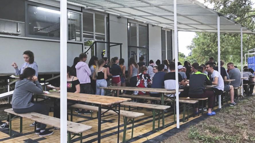GRC2 Gruppenküche im griechischen Feriencamp für Jugendfreizeiten direkt am Meer