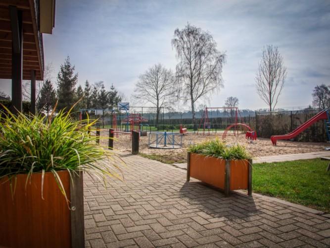 Der Außenbereich des Gruppenhauses Rowaldhoeve Boerderij in den Niederlanden.