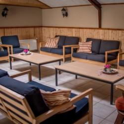Ein Gruppenraum im niederländischen Freizeitheim Rowaldhoeve Boerderij.