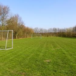 Der Fußballplatz im niederländischen Freizeitheim Schaapskooi.