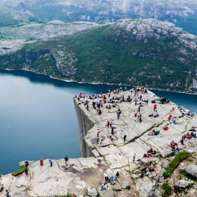 Ein nahes Ausflusgziel vom Gruppenhaus Kvinatun in Norwegen.