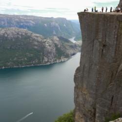 Ein gut zu erreichendes Ausflugsziel vom Gruppenhaus Kvinatun in Norwegen aus.