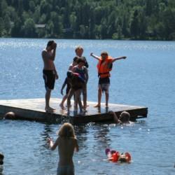 Badestelle vom norwegischen Freizeitheim Solsetra Misjonssenter
