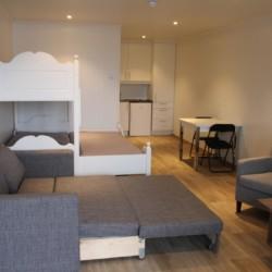 Das Apartmenthaus des Freizeitheims Undeland in Norwegen.