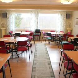 Der Speisesaal im Gruppenhaus Broddetorp in Schweden.