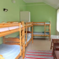 Die Zimmer im Gruppenhaus Broddetorp in Schweden.