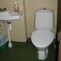 Die Badezimmer im Gruppenhaus Boddetorp in Schweden.