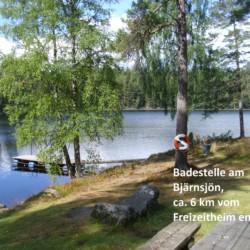 Die Badestelle in unmittelbarer Nähe zum schwedischen Freizeitheim Broddetorp.