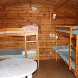 Schlafraum im schwedischen Freizeitheim Däldenäs direkt am See für Kinderfreizeiten