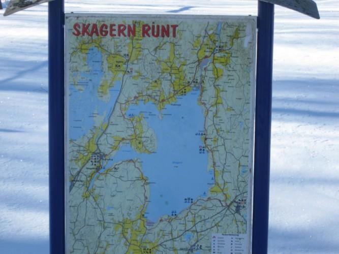 Umgebungskarte vom schwedischen Freizeitheim Däldenäs direkt am See für Jugendfreizeiten