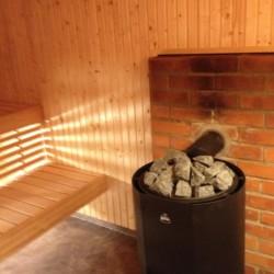 Die Sauna im schwedischen Gruppenhaus Gläntan.