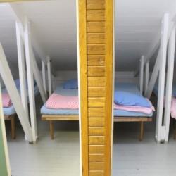 Die Einzelbetten im Freizeithaus Greagarden in Schweden.