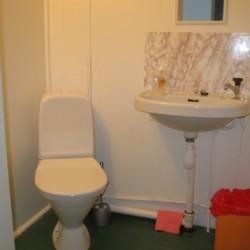 Die sanitären Anlagen im Ferienhaus Greagarden in Schweden.