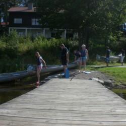 Kanutour auf dem See am Haus Greagarden in Schweden.