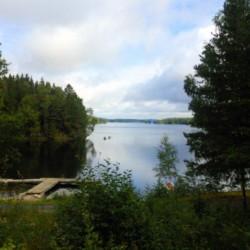 Natur und See am Gruppenhaus Greagarden in Schweden.