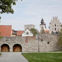Umgebung vom schwedischen Freizeitheim Gustavs Sommargard am Meer für Kinderfreizeiten