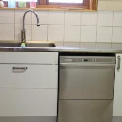 Die Küche im schwedischen Freizeitheim Gussjöstugan für Kinder und Jugendreisen.