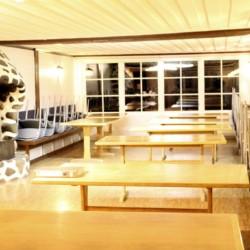 Der Speisesaal im Gruppenhaus Munkaskog in Schweden.