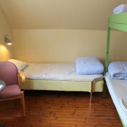 Die Schlafmöglichkeiten im schwedischen Freizeitheim Munkaskog.