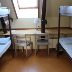 Ein Zimmer im Gruppenhaus Munkaskog in Schweden.