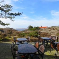 Blick vom schwedischen Gruppenhaus KFUM-Gård Skaftö für Jugendfreizeiten direkt am See