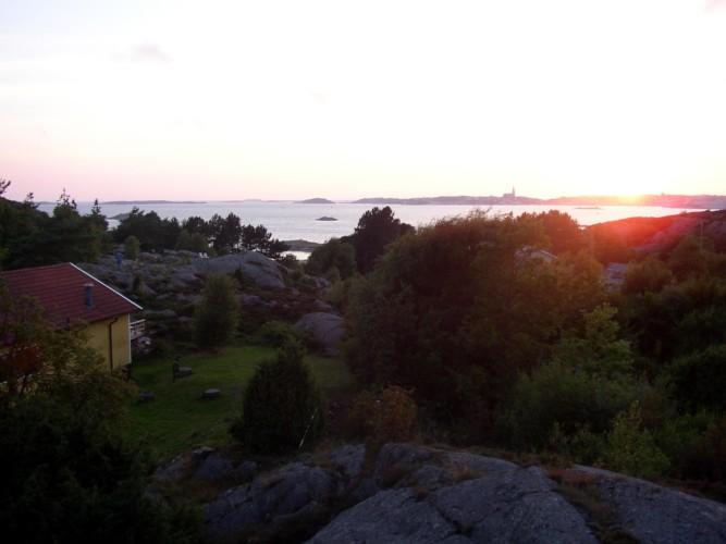 Blick über den Västsee am schwedischen Freizeitheim KFUM-Gård Skaftö für Jugendfreizeiten