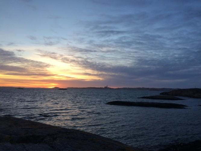 Blick über den Västsee am schwedischen Gruppenhaus KFUM-Gård Skaftö für Jugendfreizeiten