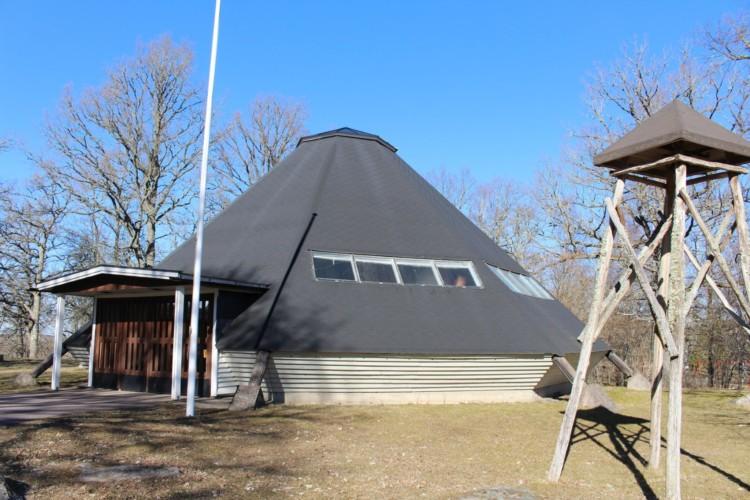 Lagerkirche vom schwedischen Freizeitheim direkt am See Östgötagården