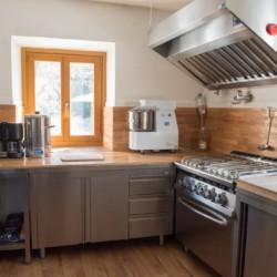 Profi-Küche im Jugendfreizeitheim Graahof in Südtirol