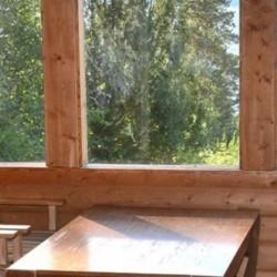 Die Aussicht aus dem Gruppenhaus Lunde in Norwegen.
