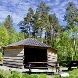Grillhütte vom Gruppenhaus in Norwegen Omlid.