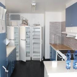 Die Küche im Frezeitheim Ängskär in Schweden.