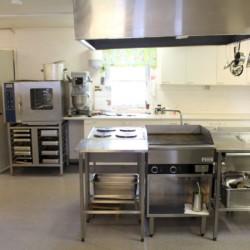 Die Küche im Gruppenhause Gläntan in Schweden.