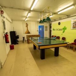 Der Sportkeller im Gruppenhaus Heliand für Kinder und Jugendreisen in Deutschland.