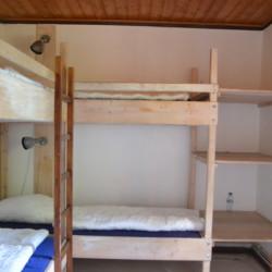 Schlafzimmer im deutschen christlichen Freizeitheim Seeste.